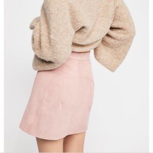 Free People Skirts - Free People NWOT suede miniskirt
